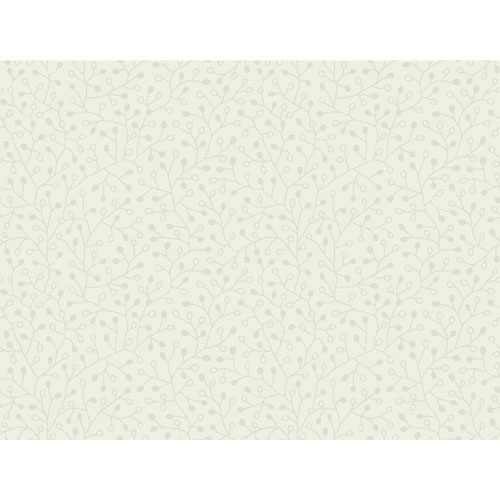 Candice Olson Breathless Intrigue Pearl on White and White/Off Whites Wallpaper