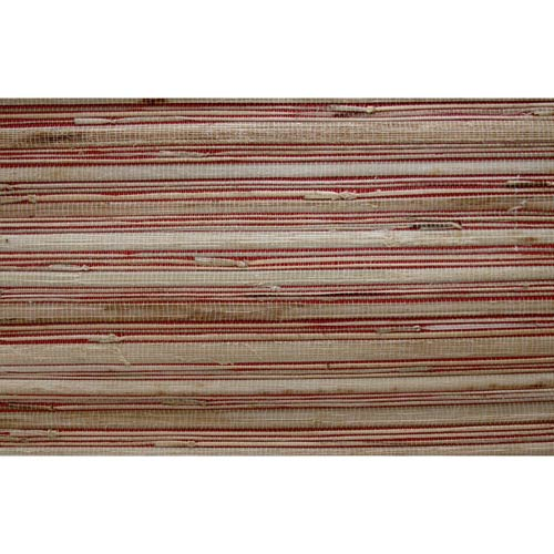 York Wallcoverings Inspired by Color Red Grass Cloth Wallpaper: Sample Swatch Only