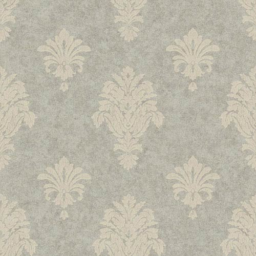 Silver and Taupe Distressed Spot Wallpaper