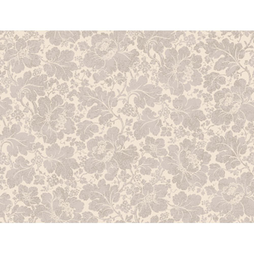 Georgetown Gallery Blooms and Oak Leaves with Crackle Texture Wallpaper : Sample Swatch Only