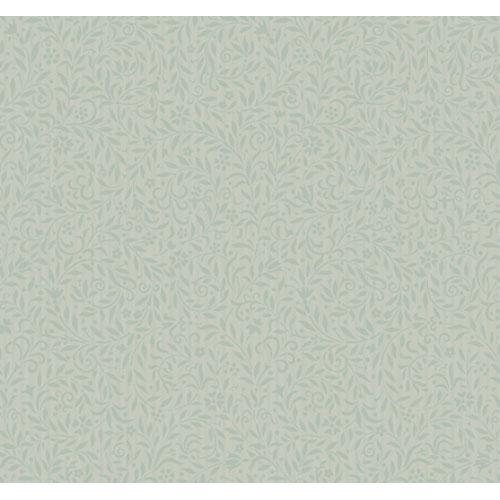York Wallcoverings Georgetown Gallery Delicate Leaf Scroll Pinstripe Wallpaper : Sample Swatch Only
