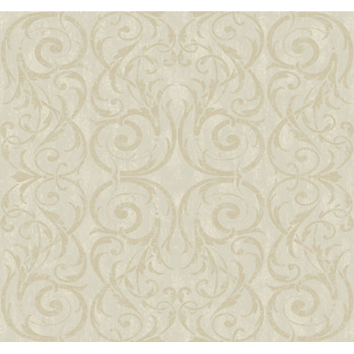 York Wallcoverings Georgetown Gallery Lacey Circular Scroll Background Wallpaper : Sample Swatch Only
