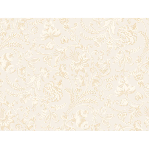 Georgetown Gallery Embroidered Jacobean Floral Wallpaper : Sample Swatch Only