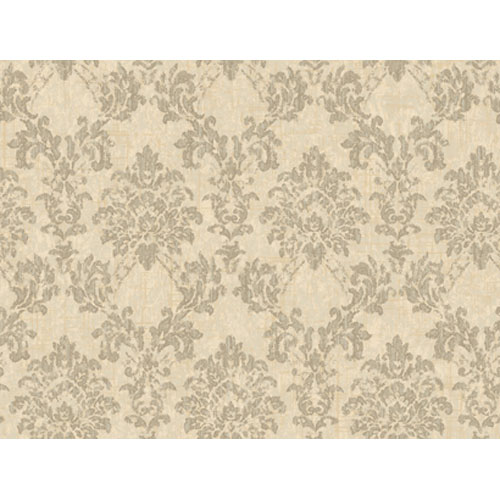 Georgetown Gallery Fresco Wood Damask Wallpaper : Sample Swatch Only