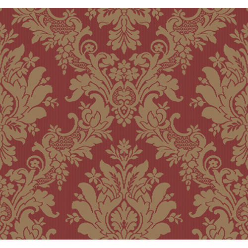 Georgetown Gallery Stria Damask Wallpaper: Sample Swatch Only