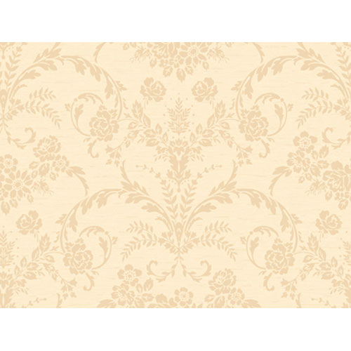 Georgetown Gallery Neoclassic Floral Damask Wallpaper : Sample Swatch Only