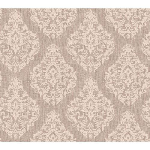York Wallcoverings Callaway Cottage Ecru and Beige Damask Spot Texture Wallpaper
