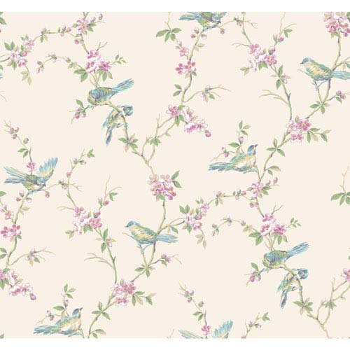 Callaway Cottage Multicolor Floral Branches with Birds Wallpaper
