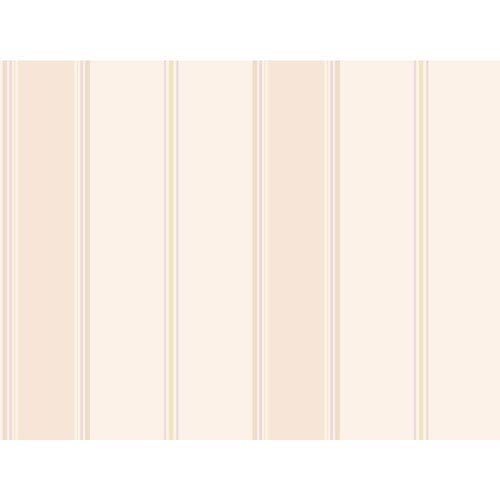 York Wallcoverings Callaway Cottage White and Light Purple Wide Stripe Regatta Wallpaper: Sample Swatch Only
