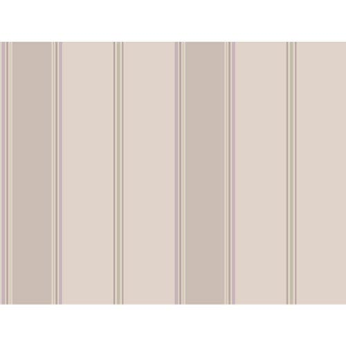 York Wallcoverings Callaway Cottage Grey and Taupe Wide Stripe Regatta Wallpaper