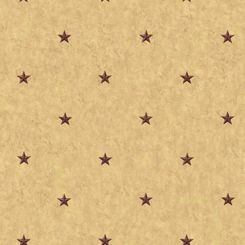 York Wallcoverings Inspired by Color Khaki Background and Burgundy Wallpaper: Sample Swatch Only