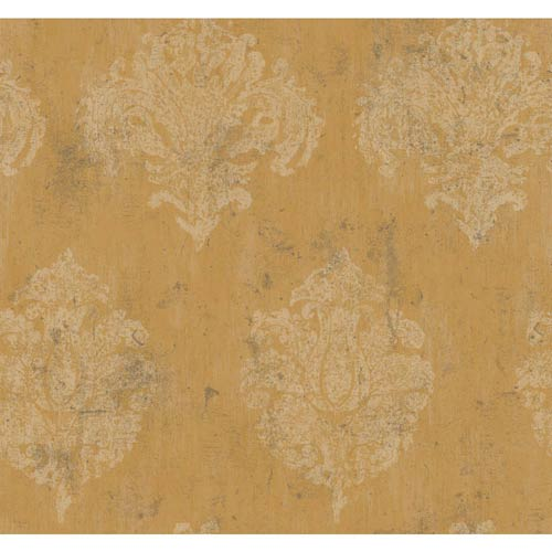 Inspired by Color Gold Metallic Chateaux Wallpaper