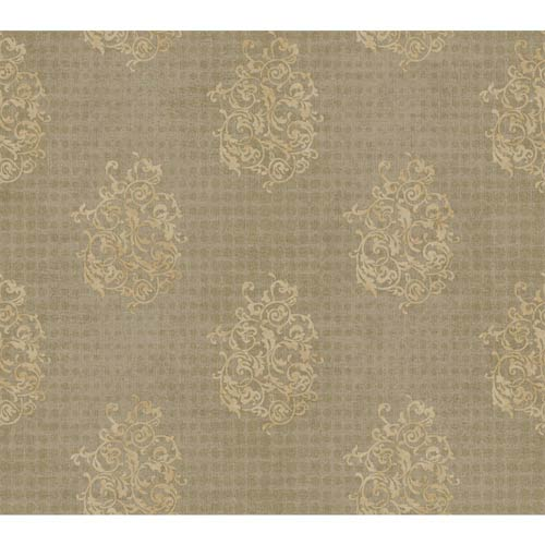 Inspired by Color Oyster Pearl Metallic, White and Bisque Wallpaper