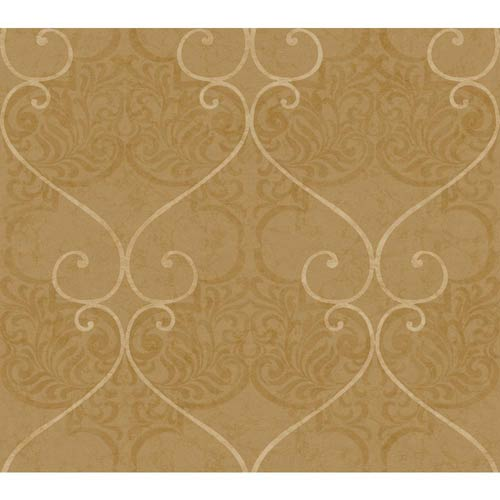 York Wallcoverings Inspired by Color Beige Metallic Wallpaper