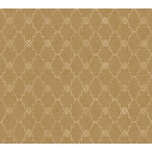 Inspired by Color Beige Metallic Palisades Wallpaper