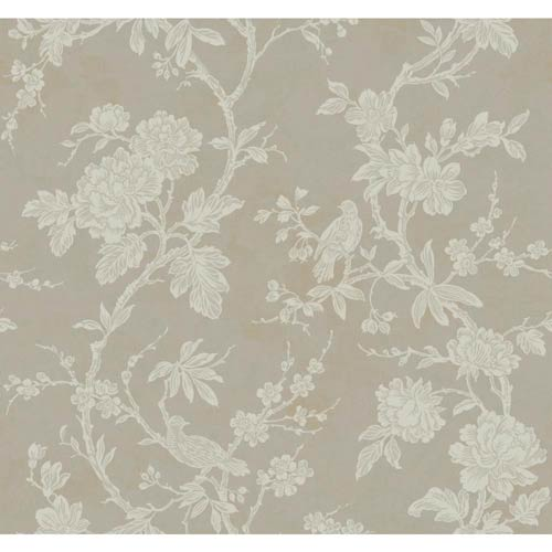 York Wallcoverings Inspired by Color Silver Metallic and Off White Wallpaper