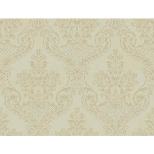 York Wallcoverings Inspired by Color Oyster Pearl Metallic Bethesda Wallpaper