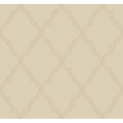 York Wallcoverings Candice Olson Dimensional Surfaces Moroccan Lattice Sand Wallpaper: Sample Swatch Only