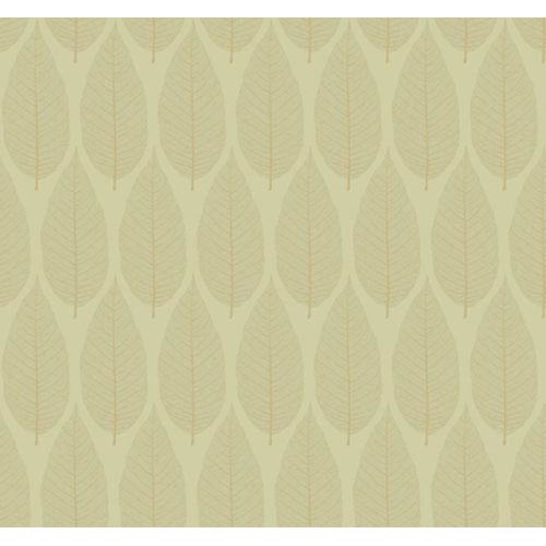 York Wallcoverings Candice Olson Dimensional Surfaces Pressed Leaf Wallpaper: Sample Swatch Only