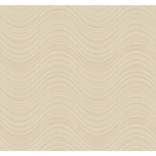York Wallcoverings Candice Olson Modern Nature Taupe and Silver Meander Wallpaper