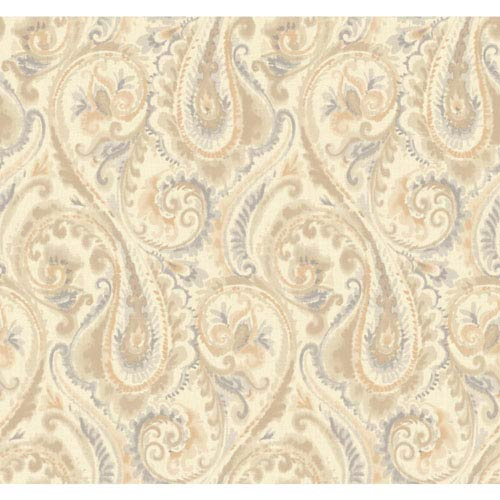 Candice Olson Modern Nature Pearlescent Gold and Tan Lyrical Wallpaper