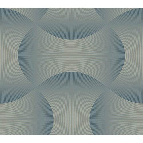Candice Olson Modern Nature Blue and Silver Freestyle Wallpaper: Sample Swatch Only