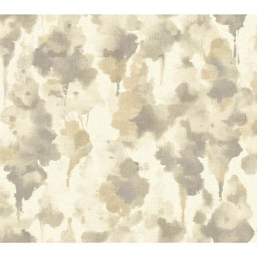 Candice Olson Modern Nature White and Taupe Mirage Wallpaper