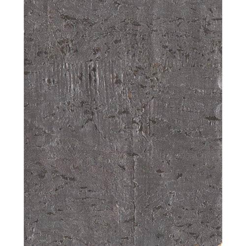 Candice Olson Modern Nature Metallic Pewter and Metallic Gold Cork Wallpaper