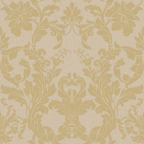 York Wallcoverings Georgetown Iridescent Acanthus Damask Wallpaper: Sample Swatch Only
