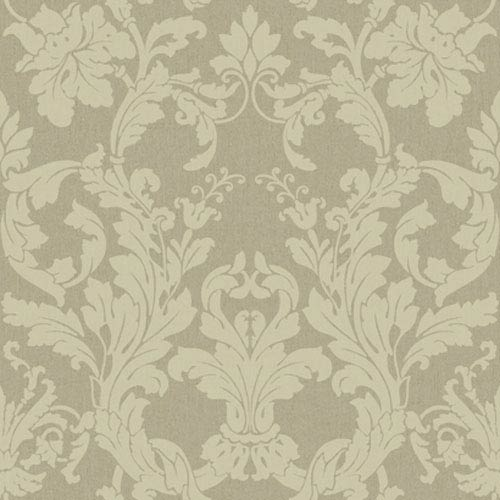York Wallcoverings Georgetown Iridescent Acanthus Damask Wallpaper