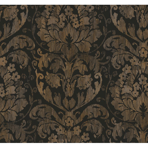 Georgetown Iridescent Stria Damask Wallpaper: Sample Swatch Only
