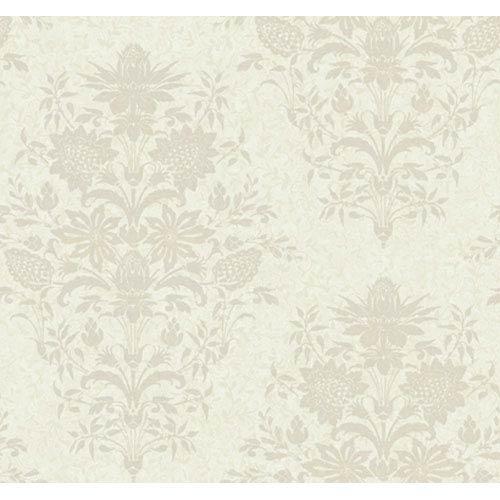 York Wallcoverings Georgetown Iridescent Small Scrolling Vine Wallpaper