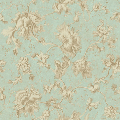 York Wallcoverings Georgetown Iridescent Floral Texture Vine Wallpaper: Sample Swatch Only