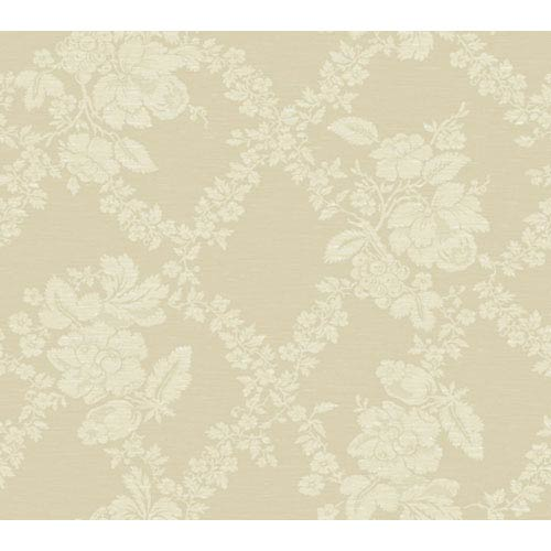 York Wallcoverings Georgetown Iridescent Fruit Leaf Floral Jacquard Wallpaper