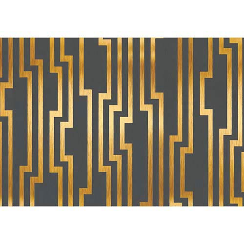 York Wallcoverings Candice Olson Shimmering Details Black and Gold Velocity Wallpaper