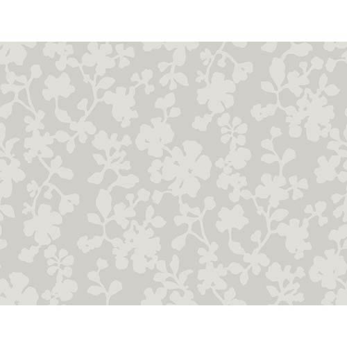York Wallcoverings Candice Olson Shimmering Details Black Shadow Flowers Wallpaper: Sample Swatch Only
