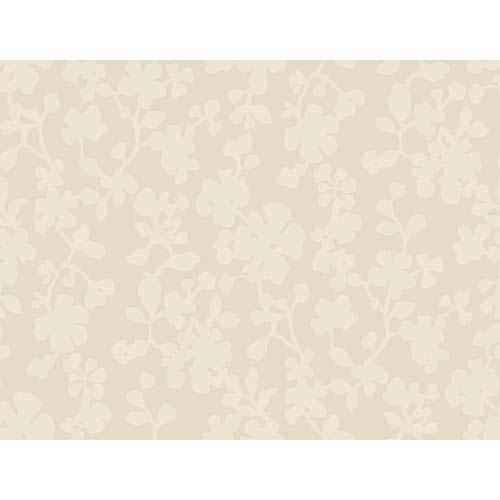 York Wallcoverings Candice Olson Shimmering Details Metallic Shadow Flowers Wallpaper: Sample Swatch Only