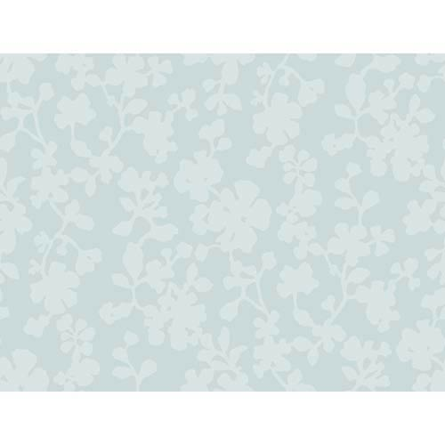York Wallcoverings Candice Olson Shimmering Details Blue Shadow Flowers Wallpaper: Sample Swatch Only