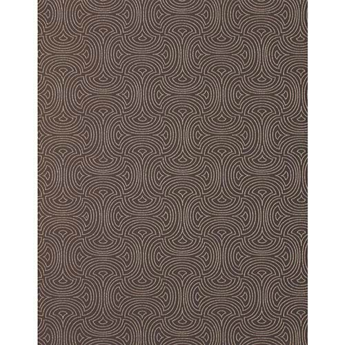 York Wallcoverings Candice Olson Shimmering Details Brown Hourglass Wallpaper: Sample Swatch Only