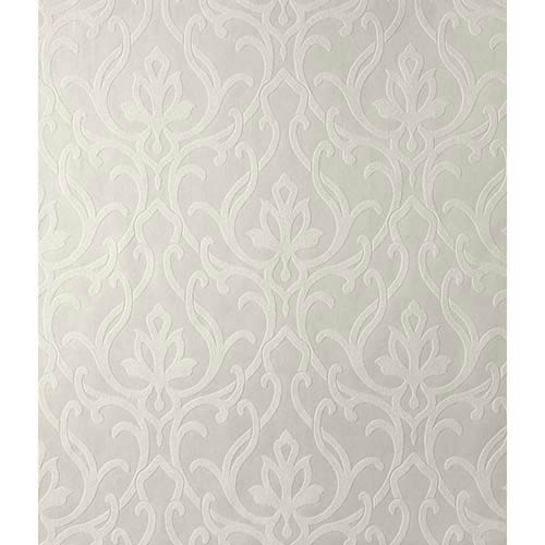 York Wallcoverings Candice Olson Shimmering Details White and Off White Dazzled Wallpaper