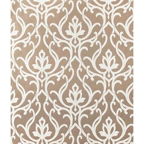 York Wallcoverings Candice Olson Shimmering Details Metallic Dazzled Wallpaper: Sample Swatch Only