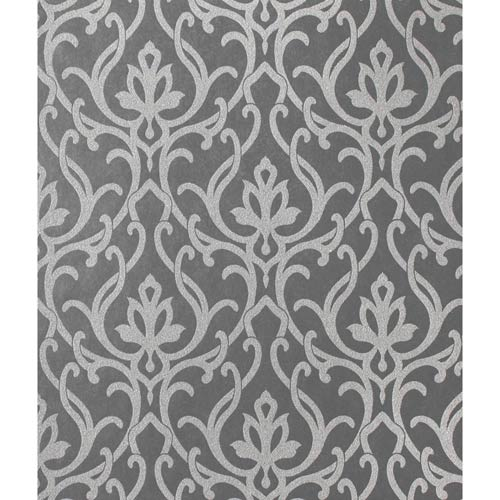 Candice Olson Shimmering Details Black Dazzled Wallpaper: Sample Swatch Only