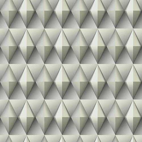 Dimensional Artistry Grey Paragon Geometric Wallpaper - SAMPLE SWATCH ONLY