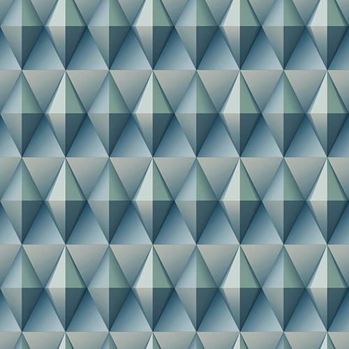 Dimensional Artistry Blue Paragon Geometric Wallpaper