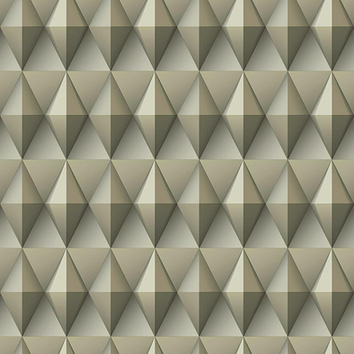 Dimensional Artistry Beige Paragon Geometric Wallpaper - SAMPLE SWATCH ONLY