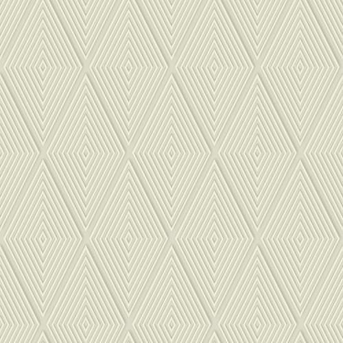 Dimensional Artistry Tan Conduit Diamond Wallpaper
