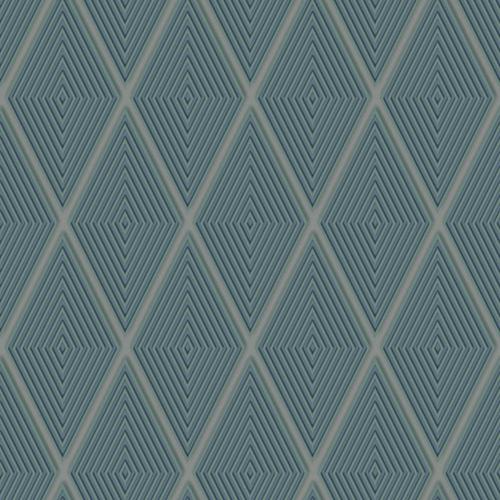 Dimensional Artistry Green Conduit Diamond Wallpaper