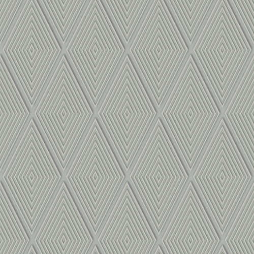 Dimensional Artistry Grey Conduit Diamond Wallpaper