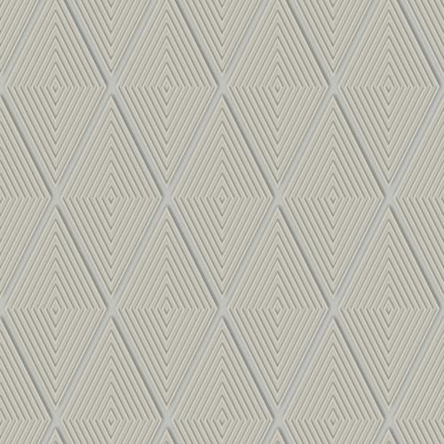 Dimensional Artistry Taupe Conduit Diamond Wallpaper