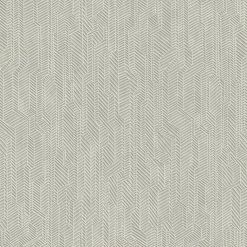 Dimensional Artistry Grey Metropolis Geometric Wallpaper